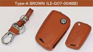 core OBJ select<br>Brown Leather Key Cover(Type-A)