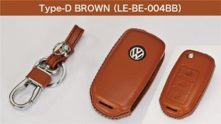 core OBJ select<br>Brown Leather Key Cover(Type-D)