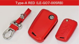 core OBJ select<br>Red Leather Key Cover(Type-A)