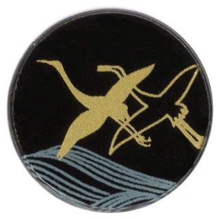 蒔絵マスクチャーム「WAKUPITA(わくぴた)」 単品 �波に鶴