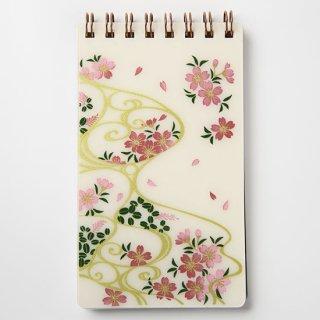 蒔絵メモ帳 桜に流水紋 紙箱入り