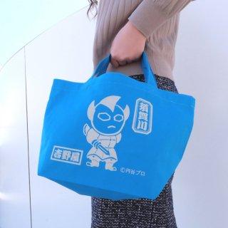 トートバッグ(ウルトラマンタロウ×鍾馗様のコラボレーション)ブルー