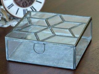 ディスプレイ什器:メタルフレーム ガラスケース・スターパターン