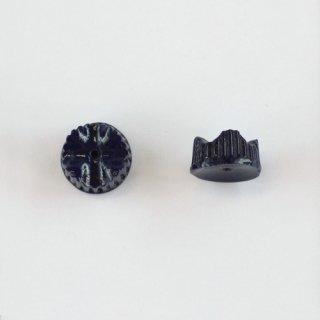 フランスヴィンテージ ネイビー 変形ロンデル6×13mm 2個