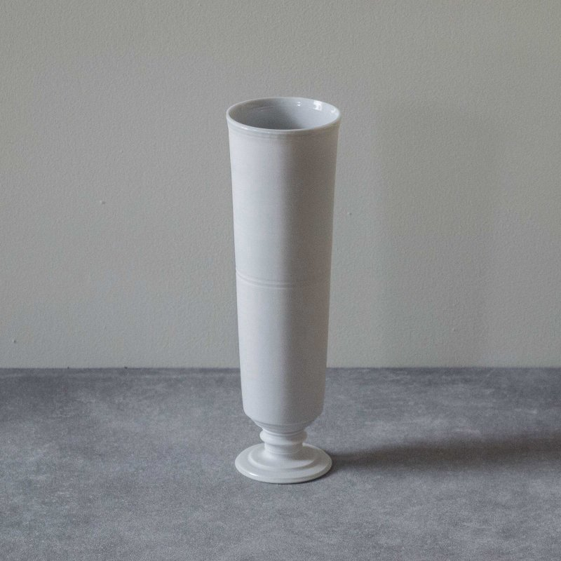 矢萩誉大 vase white stem