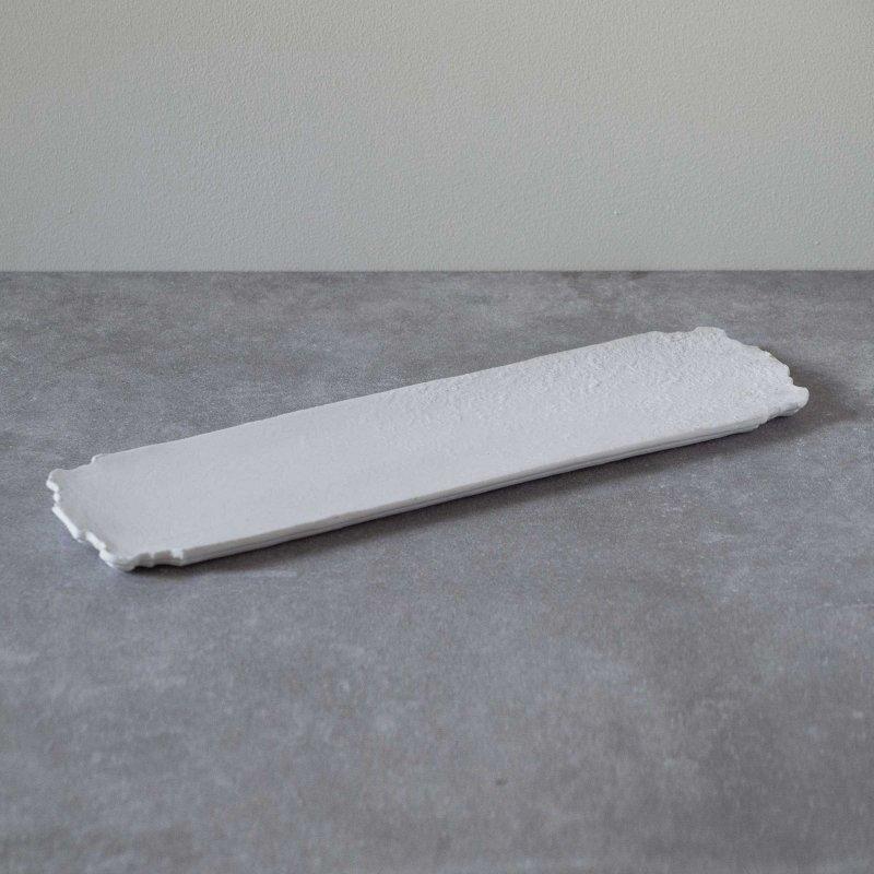 矢萩誉大 plate rectangle scratch w&b