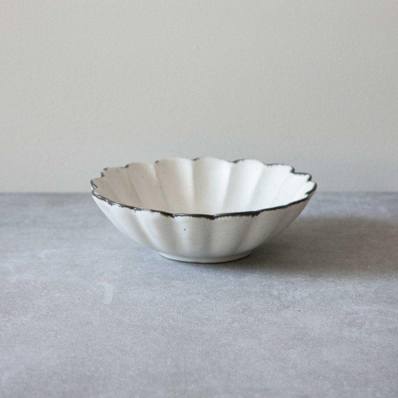 石岡信之 白輪花 5寸鉢