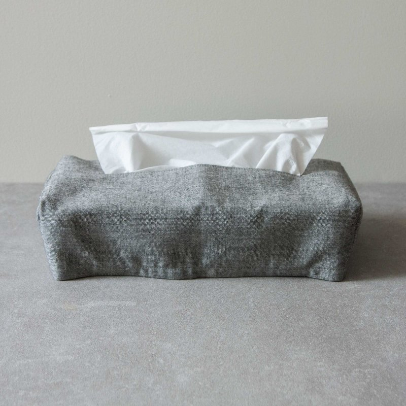 F/style/亀田縞のティッシュボックスカバー