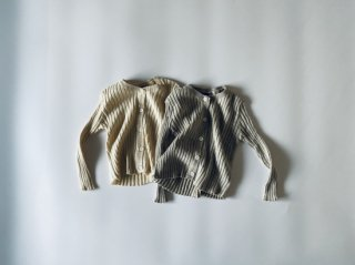 【 sale 】 Rib knit cardigan / Aosta