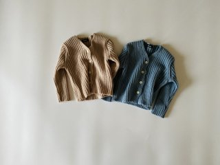 【 sale 】 Color rib knit cardigan / Aosta