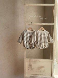 【予約】brush stripe suit / Monbebe no.1006