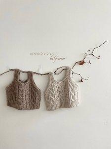 【予約】knit bustier / Monbebe no.10011
