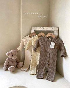 【予約】rib knit suit / Monbebe no.10012