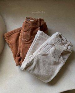 【予約】span corduroy pants / Monbebe no.10013