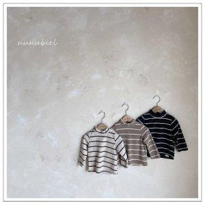 【予約】snow stripe pola tee / nunubiel no.4003