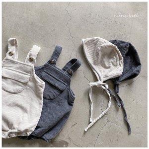 【予約】milk tea suspenders suit / nunubiel no.4006