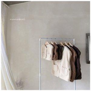 【予約】fleece vest -mom- / nunubiel no.4009
