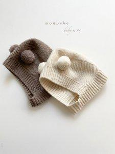 【予約】wool knit bonnet / Monbebe no.10016