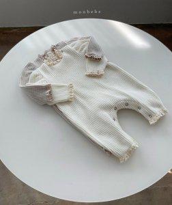 【予約】brush waffle frill suit / Monbebe no.10016