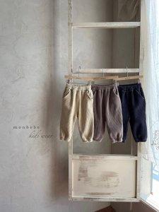 【予約】velor pants / Monbebe no.10017