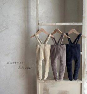 【予約】velor suspenders tights / Monbebe no.10017