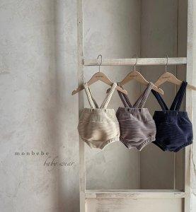 【予約】velor suspenders bloomers / Monbebe no.10017