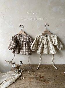 【予約】chamomile blouse / Aosta no.2007