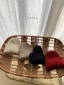 【予約】knit beanie / Aosta no.20012