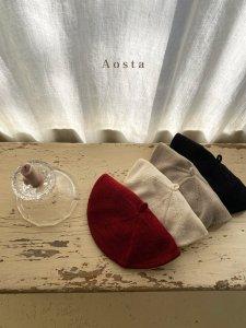 【予約】knit beret / Aosta no.20013