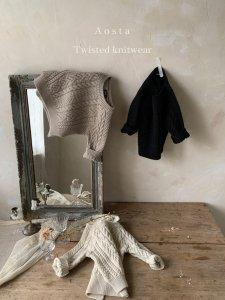 【予約】twist knit / Aosta no.20018
