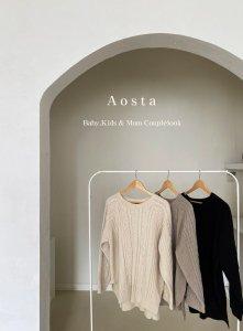 【予約】twist knit -mom- / Aosta no.20018