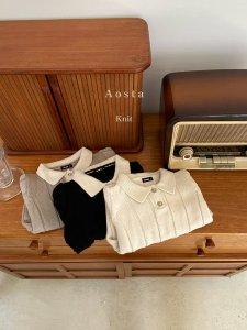 【予約】collar knit / Aosta no.20020
