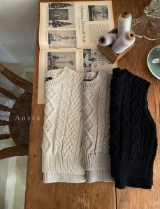 【予約】knit vest / Aosta no.20027