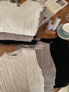 【予約】knit vest -mom- / Aosta no.20027