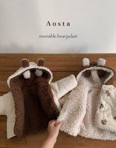 【予約】reversible bear jacket / Aosta no.20032
