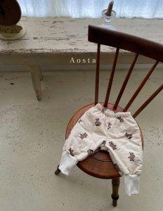 【予約】bear warm pants / Aosta no.20032