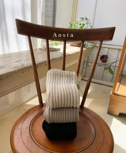 【予約】rib knit pants / Aosta no.20036