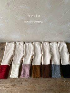 【予約】warmer leggings / Aosta no.20037