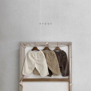 【予約】mochi span corduroy pants -kids- / Anggo no.80026