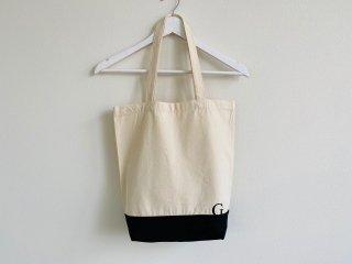 キャンバストートバッグ ロゴ刺繍 ナチュラル/ブラック
