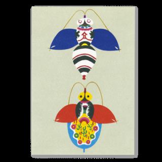 ポストカード 蜂凧、蝶凧
