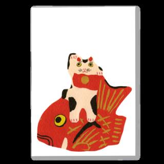 ポストカード 鯛乗り招き猫