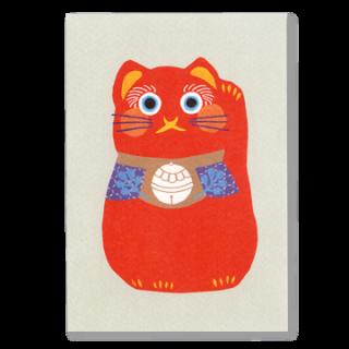 ポストカード 招き猫(赤)
