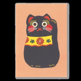 ポストカード 招き猫(黒)