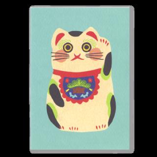 ポストカード 招き猫(白)