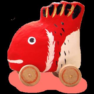 六原張り子 鯛車