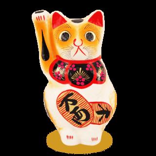高崎招き猫 白(小判入り)