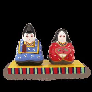 浜松張子 ひな人形(赤・青)