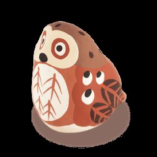宮島張り子 フクロウ(茶)