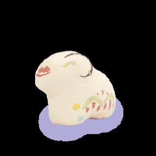 土佐和紙漆喰張り子 未(小)